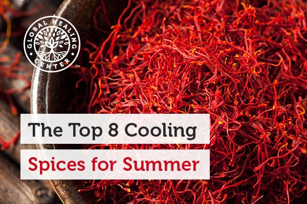Saffron is one of the top cooling spices to use in the summer.