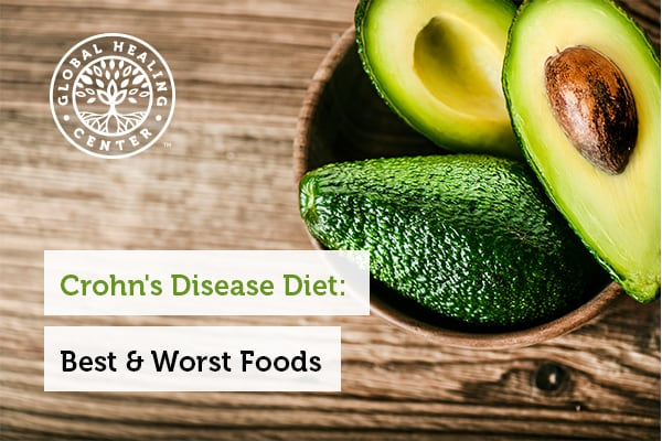 Avocados are part of a Crohn's disease diet.