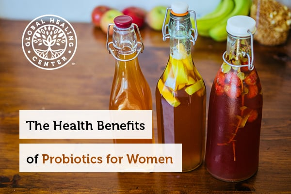 Probiotic drink like kombucha is beneficial for women.