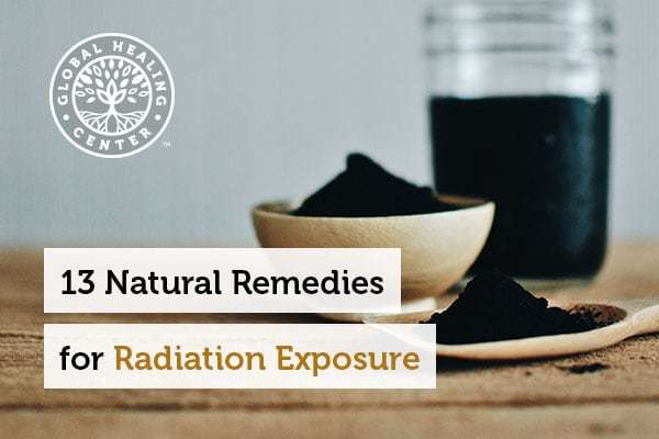 Activated charcoal is one of many natural remedies for radiation exposure.