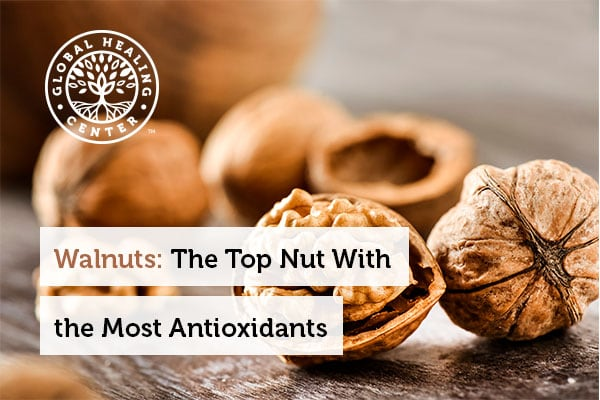 Raw walnuts are loaded with antioxidants.