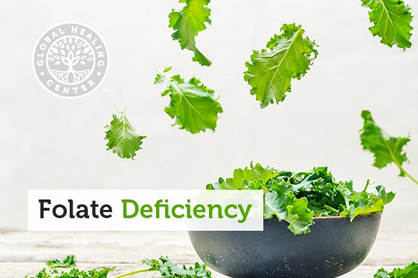 Kale can help with folate deficiency.