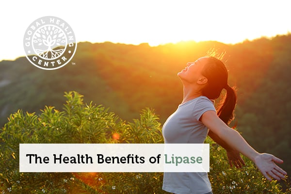 A woman staring at the sun. The enzyme lipase has many health benefits.