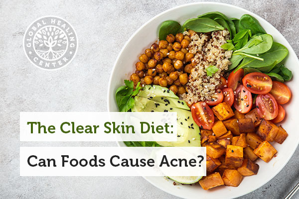 Fruits and vegetables are part of the clear skin diet.