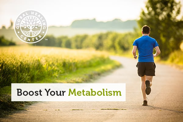 Running helps boost your metabolism.