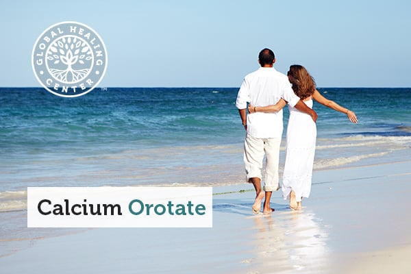 Couples are walking together on a beach. Calcium orotate provides overall wellness.