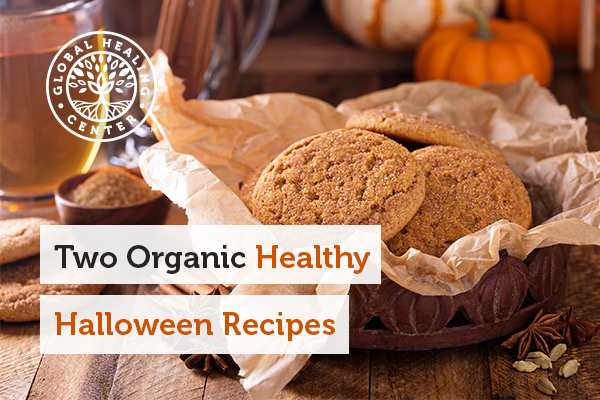 2 organic cookies. We encourage healthy halloween recipes for the holiday.