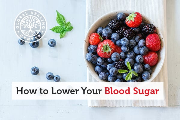 A healthy diet rich in fruits and vegetables is a natural way to lower blood sugar.
