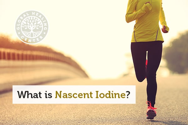 An individual is running. Nascent iodine helps maintain a optimal level of iodine in the body.