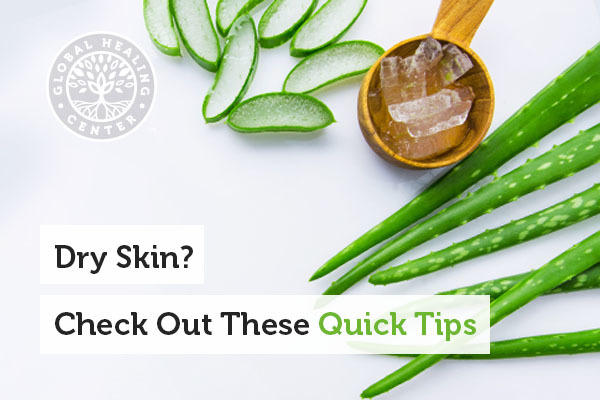 Aloe vera is great for dry skin.