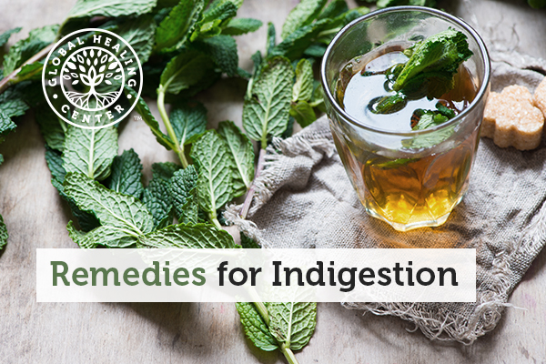 An herbal tea is one of many natural indegestion remedies.