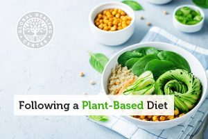 A plant-based meal in a bowl. A Plant-based diet incorporates whole, natural vegetables, fruits, nuts, seeds, and grains.
