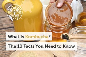 A glass of kombucha. Kombucha helps promote lung and liver health.