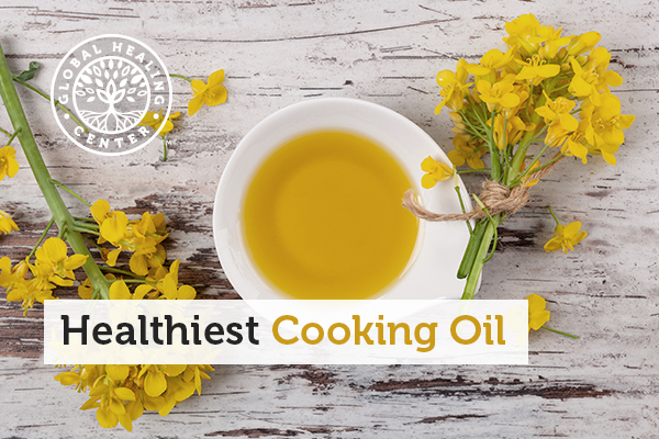 A small bowl of olive oil. Olive oil is one of the healthiest cooking oils you can find.