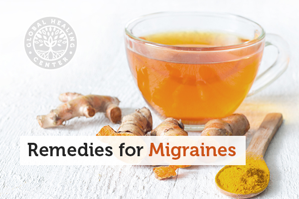 A cup of ginger tea. Ginger tea is a natural home remedy for migraines.