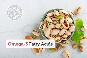 A bowl of pistachios. Pistachios are a great source of omega-3 fatty acids.