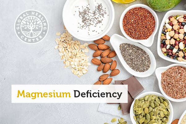 Several magnesium-rich foods that can help with magnesium deficiency.