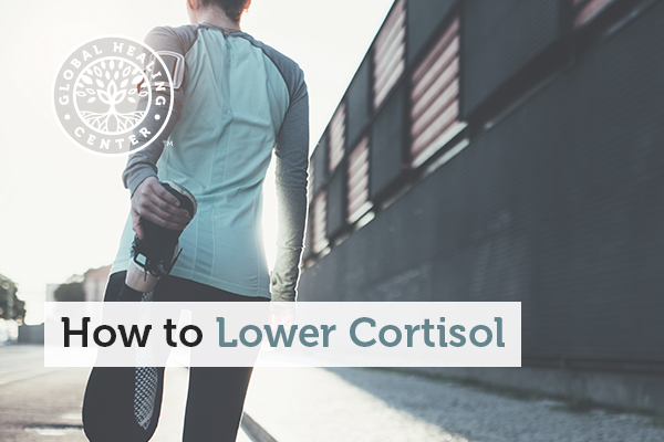 An individual stretching. Regular aerobic exercise can help reduce your cortisol and stress levels.