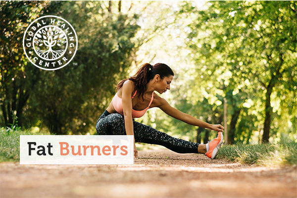 A woman stretching in running trail. Incorporating a natural fat burner can make your workouts more efficient.