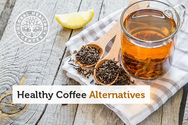 A cup of black tea. Black tea is a great coffee alternative.