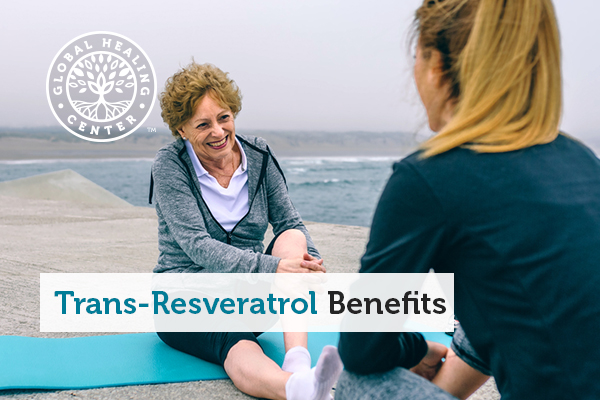 An older woman stretching. Resveratrol benefits muscle recovery and exercise performance.