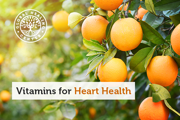 An orange tree. Oranges are high in vitamin C, which is great for heart health.