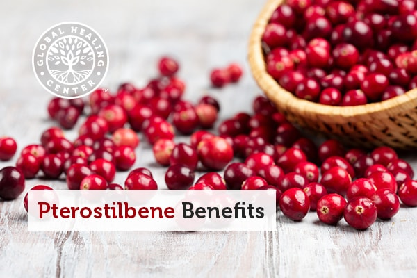 A bowl of cranberries which are rich in pterostilbene.
