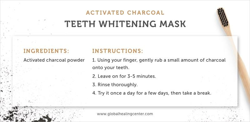 Activated charcoal is the perfect whitening mask that is all natural.