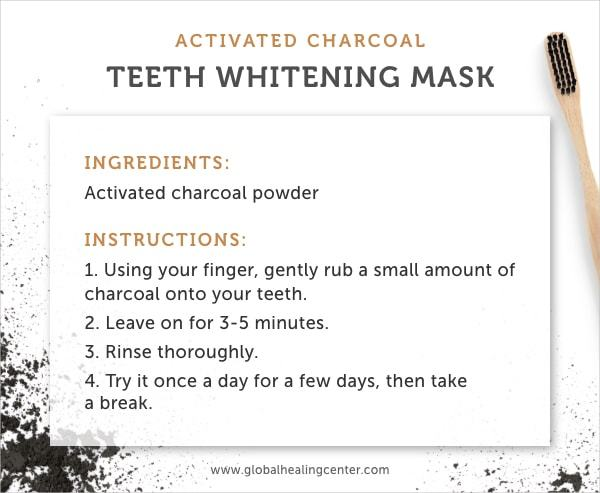 Use activated charcoal for an easy whitening mask.