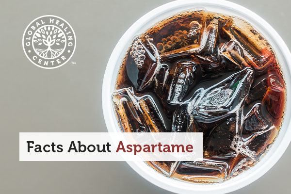 A cup of diet soda, which contains aspartme.