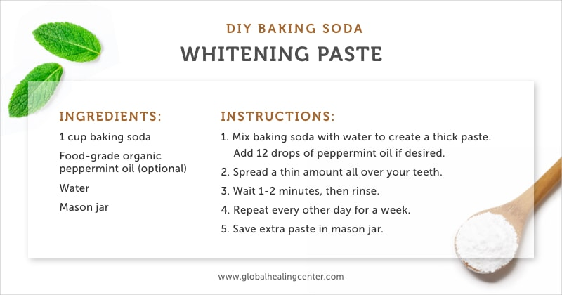 This easy DIY baking soda whitening paste is an effective technique.