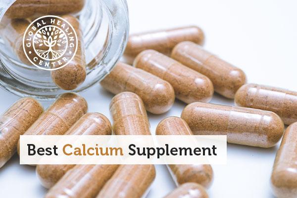 A jar full of calcium supplements.