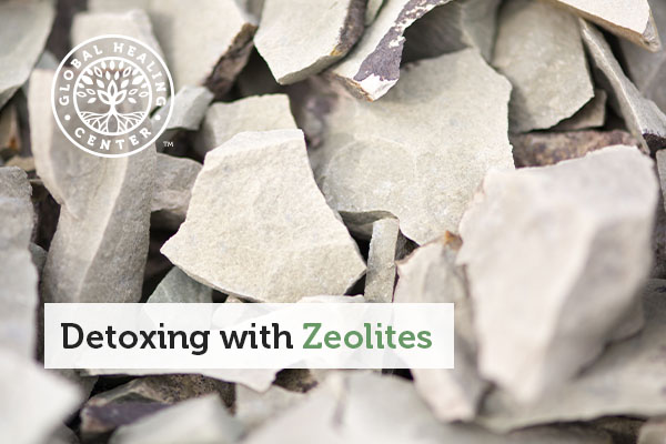 A pile of rocks that contain zeolites.