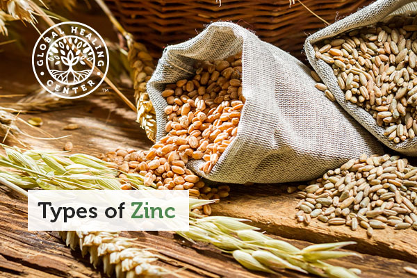 Bags of whole grains which are high in zinc.