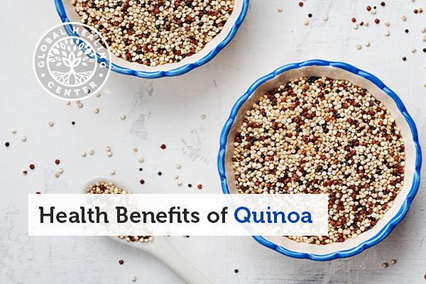 A bowl of quinoa.