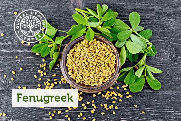 A bowl of the fenugreek plant.