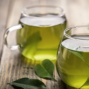 Cups of green tea which are natural appetite suppressants!