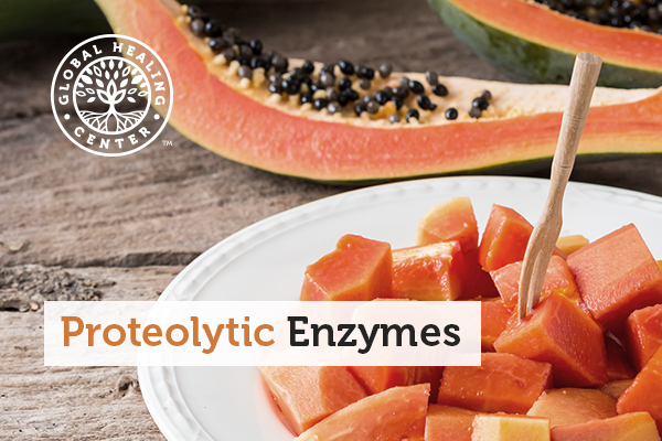 A plate of papaya. Papaya is a good source of proteolytic enzymes.