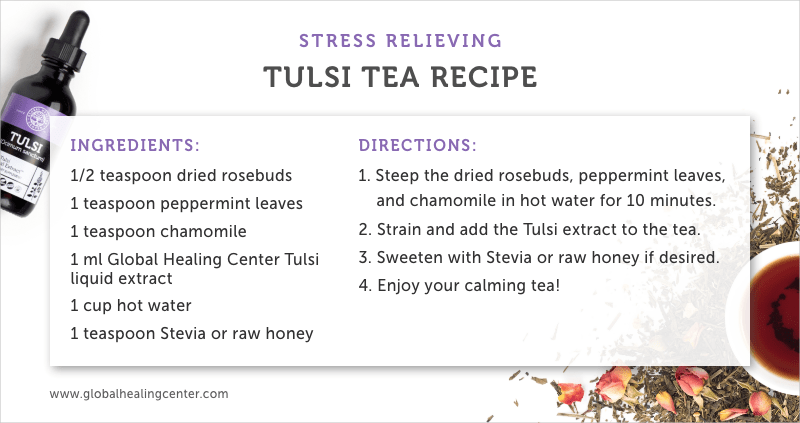 Try our holy basil tea recipe using our Tulsi supplement!