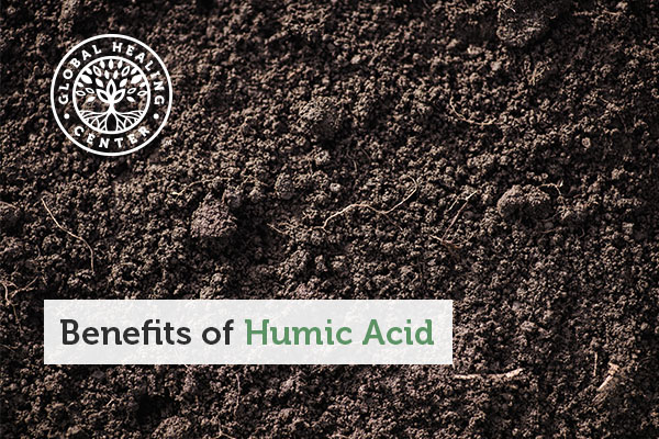 A patch of soil with humic acid in it.