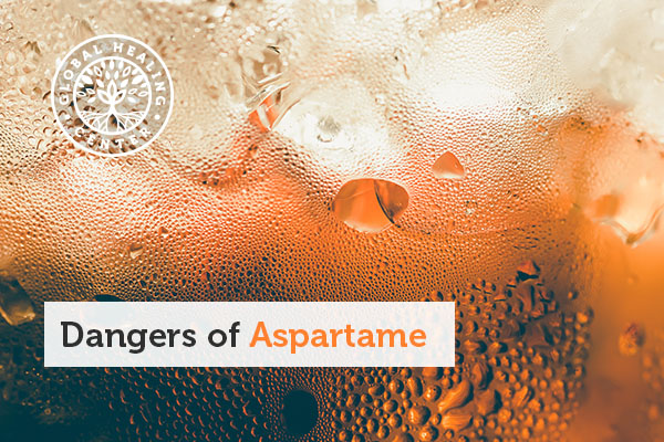 A cup of soda, which typically contains aspartame.