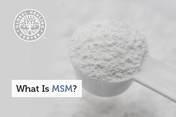 A scoop full of MSM powder.