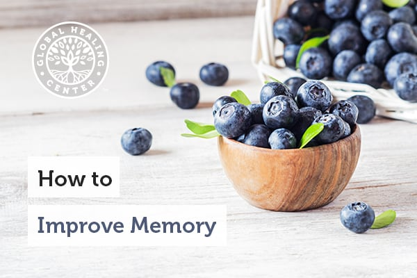 A bowl of blueberries — which are great for improving memory.