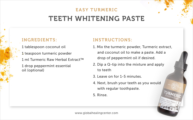 Our turmeric teeth whitening recipe is brightening and perfectly natural.