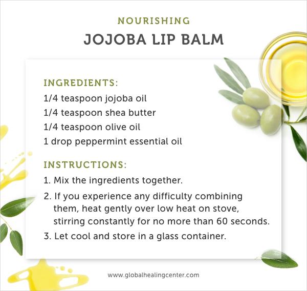 Try this nourishing jojoba lip balm recipe for smooth lips.