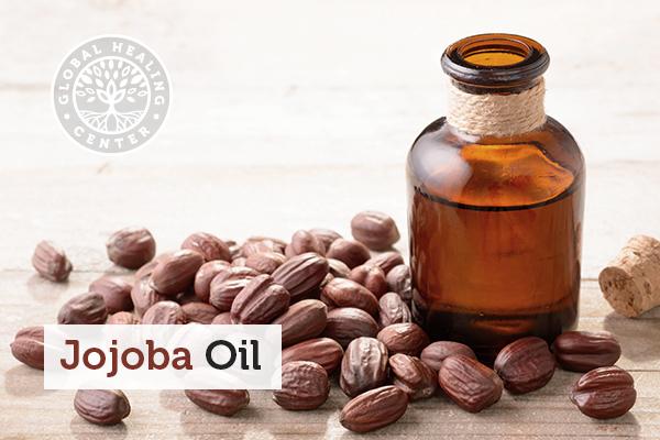 A jar of jojoba oil.