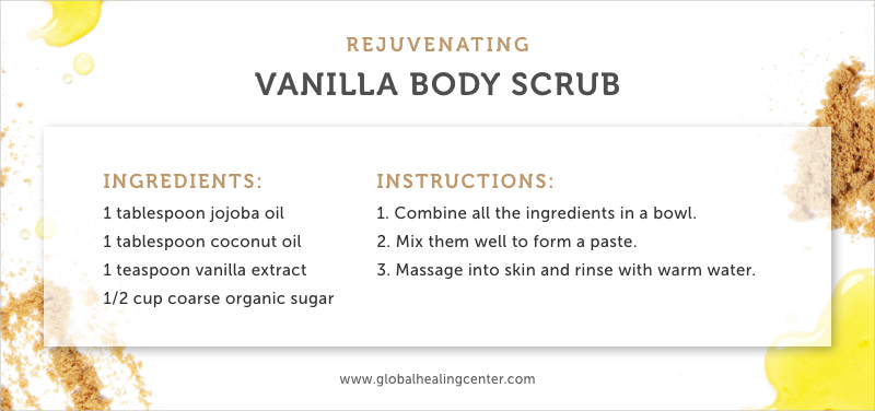 Try this rejuvenating vanilla body scrub that'll leave your skin feeling soft and moisturized.