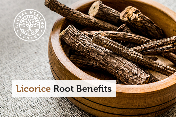 A bowl of licorice roots.