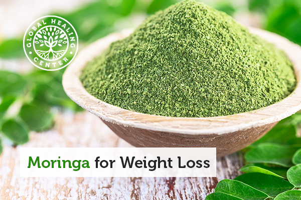 A bowl of moringa powder.