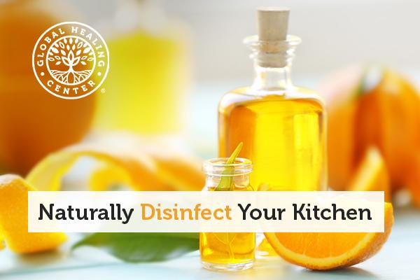 A bottle of orange oil.